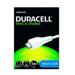 CABLE DURACELL USB MACHO A MICRO USB -1 METRO - BLANCO