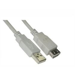 CABLE ALARGADOR USB NANOCABLE 10.01.0203 - CONECTORES A-MACHO A-HEMBRA - BEIGE - 1.8M