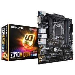 PLACA BASE GIGABYTE Z370M D3H - PARA INTEL CORE 8TH GEN -SKT LGA1151 - CHIPSET Z370 - 4XDDR4 - DVI-D - HDMI  SOPORTA CROSSFIRE -