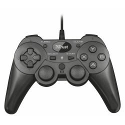 GAMEPAD TRUST ZIVA WIRED - 2 JOYSTICK ANALOGICOS- PANEL DIGITAL 8 DIRECCIONES - FUNCIÓN TURBO EN 8 BOTONES - CABLE 1.8M - ENCHUF