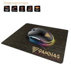 RATÓN GAMING GAMDIAS ZEUS E1 - SENSOR ÓPTICO - 1000/3200DPI - 125HZ - ILUMINACIÓN MULTICOLOR - CABLE USB 1.8M + ALFOMBRILLA NYX