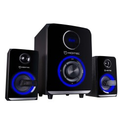 ALTAVOCES 2.1 HIDITEC H500 - 50W RMS - SUBWOOFER 5.25'/13.3CM - SATELITES 3'/7.62CM - BLUETOOTH - LECTOR USB/SD - AUDIO-IN - RAD