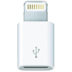 ADAPTADOR MICRO USB A LIGHTNING 3GO A200 - DE MICRO USB HEMBRA A LIGHTNING MACHO - 8 PIN - COLOR BLANCO