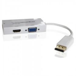 ADAPTADOR APPROX APPC37 DE DISPLAYPORT A VGA / DVI / HDMI - RESOLUCIÓN MAX. 4K - PLUG AND PLAY