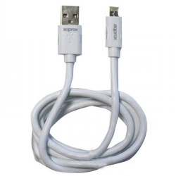 CABLE USB DE DATOS Y CARGA APPROX APPC32 A LIGHTNING Y MICROUSB - PARA IPHONE/ANDROID - 1M - BLANCO