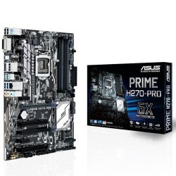PLACA BASE ASUS PRIME H270-PRO - INTEL SOCKET LGA-1151 - CHIPSET H270 -  4XDDR4 - 6XSATA - 2XPCIEX16 - CROSSFIREX - HDMI - DVI-D