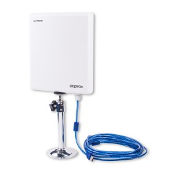 ANTENA EXTERIOR APPROX APPUSB26DB - CHIPSET RT3070L - 26DBI - 200MW - CABLE USB 5 METROS - WPS / WEP / WPA - ESPECIAL AUDITORIAS