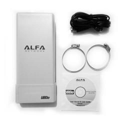 ADAPTADOR USB WIFI ALFA NETWORK UBDO-NT8 - EXTERNO - LARGO ALCANCE - 2000MW - 12DBI / 2.4GHZ - USB - CABLE 8 METROS