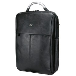 MOCHILA E-VITTA BUSINESS BLACK PU - PARA PORTĮTILES HASTA 15.4'-16'/39.1-40.64CM - 2 DEPARTAMENTOS INDEPENDIENTES - IMPERMEABLE
