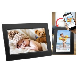 MARCO DE FOTOS DIGITAL DENVER PFF-710BLACK - PANTALLA 7'/17.7CM IPS TĮCTIL 1024X600 - 200CD/M2 - 8GB - WIFI - SOFTWARE FRAMEO