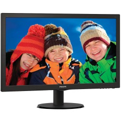 MONITOR LED PHILIPS V-LINE 243V5LHSB - 23.6'/ 59.9CM FULLHD - 1MS - 1000:1 - 250CD/M2 - VGA - DVI-D - HDMI - INCLINACIÓN 5/20ŗ -