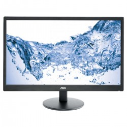 MONITOR LED AOC E2470SWHE - 23'/58.42CM - 1920X1080 FHD - 16:9 - 250CD/M2 - 20M:1 - 5MS - VGA - HDMI - VESA 100X100