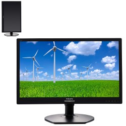 MONITOR LED PHILIPS 221S6LCB - 21.5'/54.6CM - 1920X1080 - 5MS - 250CD/M2 - 16:9 - 20M:1 - VGA - DVI-D - FLICKER FREE - GIRO 90ŗ