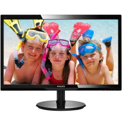 MONITOR LED PHILIPS 246V5LSB 24' / 60.96CM 16:9 FULLHD 60HZ 5MS 250CD/M2 10M:1 VGA DVI CON SMARTCONTROL LITE NEGRO