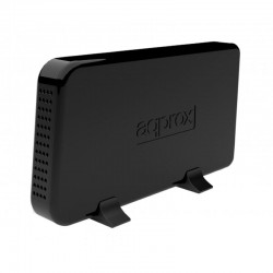 CAJA EXTERNA APPROX PARA DISCOS DUROS 3.5'/8.89CM - USB 2.0 - SATA I/II - INTERRUPTOR ENCENDIDO / APAGADO - NEGRO