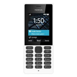 TELÉFONO MÓVIL NOKIA 150 BLANCO - DISPLAY 2.4'/6CM - CĮMARA VGA - DUAL SIM - SLOT MICROSD (HASTA 32GB) - RADIO FM - BIBANDA - BA