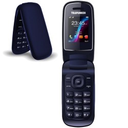 TELÉFONO MÓVIL LIBRE TELEFUNKEN TM 18.1 CLASSY DARK BLUE - PANTALLA 1.8'/4.5CM - BT - CĮMARA DE FOTOS - DUAL SIM - FM - MANOS LI