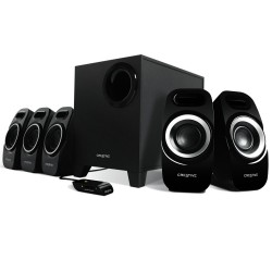 ALTAVOCES 5.1 CREATIVE INSPIRE T6300 -  JACK 5.1 ANALOG - 5X7W - SUBWOOFER 22W -  MANDO CON CABLE - NEGRO