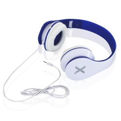 AURICULARES DIADEMA APPROX DJ JAZZ APPDJJAZZWBL - ALTAVOCES 40MM - CABLE ANTI-ENROLLABLE 1.2M - BLANCO Y AZUL