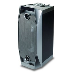 ALTAVOZ INALĮMBRICO CONCEPTRONIC DISCO SPEAKER GRIS - BT2.1 - 20Wx2+5Wx2 - MICROSD/USB/AUX-IN/MIC-IN - LUCES LED BFRCON