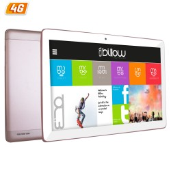TABLET CON 4G BILLOW X104 ROSA CUARZO - QC - 16GB - 1GB RAM - 10.1'/25.65CM IPS 1280X800 - DUAL SIM - ANDROID 7 - CAM 5/8MP - GP