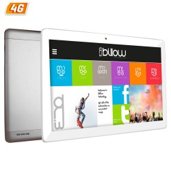 TABLET CON 4G BILLOW X104 PLATA - QC - 16GB - 1GB RAM - 10.1'/25.65CM IPS 1280X800 - DUAL SIM - ANDROID 7 - CAM 5/8MP - GPS - RA